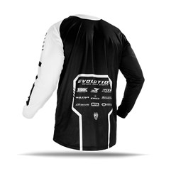 Camisa Motocross Jett Evolution 2 2019 Branco/Preto
