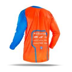 Camisa Motocross Jett Evolution 2 2019 Laranja/Azul Claro