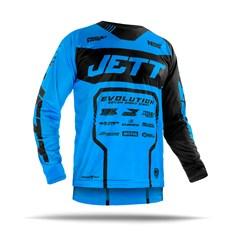 Camisa Motocross Jett Evolution 2 2019 Preto/Azul