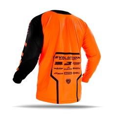 Camisa Motocross Jett Evolution 2 2019 Preto/Laranja