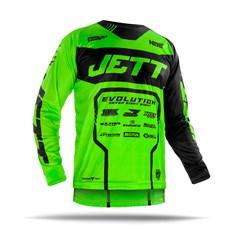 Camisa Motocross Jett Evolution 2 2019 Preto/Verde