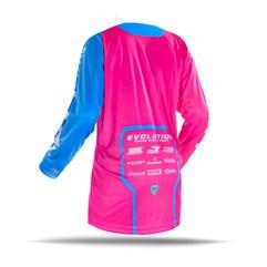 Camisa Motocross Jett Evolution 2 2019 Rosa/Azul Claro
