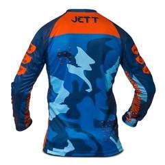 Camisa Motocross Jett Factory Edition 3 Azul - Laranja