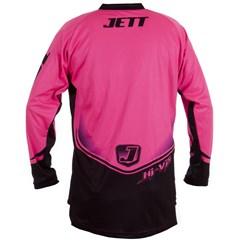 Camisa Motocross Jett Hi-Vis Rosa Neon