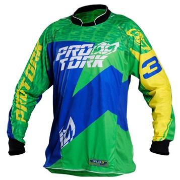 c2cedaf11dfc0 Camisa Motocross Pro Tork Balbi Verde - Sportbay