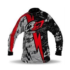 Camisa Motocross Pro Tork Eletric Vermelho