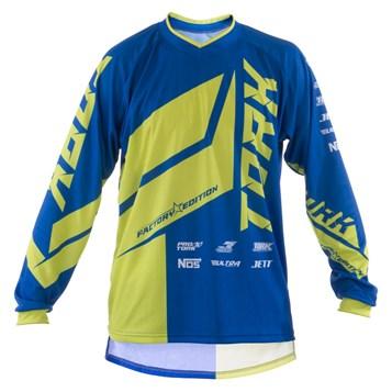 Camisa Motocross Pro Tork Factory Edition Azul/Amarelo