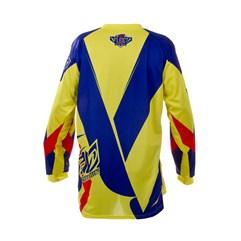 Camisa Motocross Pro Tork Fleet Amarelo/Azul