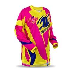 Camisa Motocross Pro Tork Fleet Amarelo/Pink