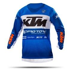 Camisa Motocross Pro Tork KTM Factory Edition Azul