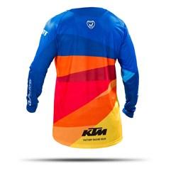 Camisa Motocross Pro Tork KTM Factory Edition Azul - Laranja