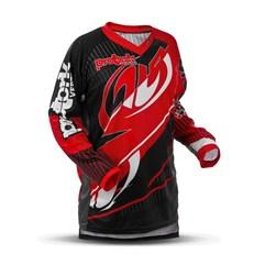 Camisa Motocross Pro Tork Vertigo Vermelho/Preto