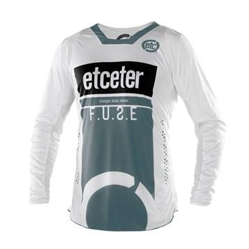 Camisa Motocross Trilha Enduro Etceter Fuse Branco - Cinza
