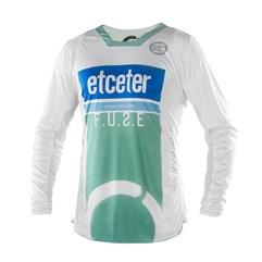 Camisa Motocross Trilha Enduro Etceter Fuse Branco - Verde