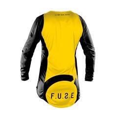 Camisa Motocross Trilha Enduro Etceter Fuse Preto - Amarelo