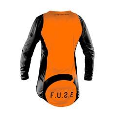 Camisa Motocross Trilha Enduro Etceter Fuse Preto - Laranja