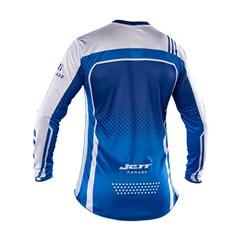 Camisa Motocross Trilha Enduro Jett Armage Azul - Branco