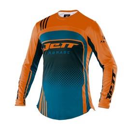 Camisa Motocross Trilha Enduro Jett Armage Azul - Laranja