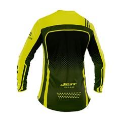 Camisa Motocross Trilha Enduro Jett Armage Preto - Amarelo