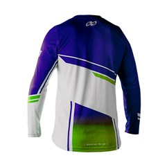 Camisa Motocross Trilha Enduro Pro Tork Sag Azul - Verde
