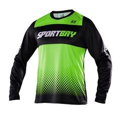 Camisa Motocross Trilha Enduro Sportbay Oficial 1 Verde