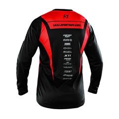 Camisa Motocross Trilha Enduro Sportbay Oficial 1 Vermelho