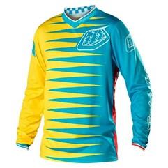 Camisa Motocross Troy Lee GP Joker Amarelo/Azul