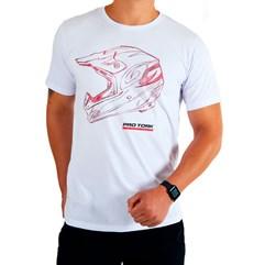 Camiseta Casual Pro Tork Helmet Racing Branco