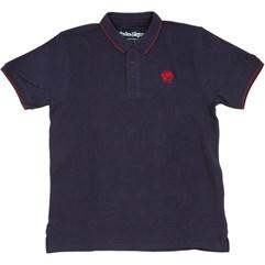 Camiseta Polo Troy Lee Skull Azul Marinho