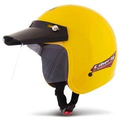 Capacete Aberto Compact Amarelo