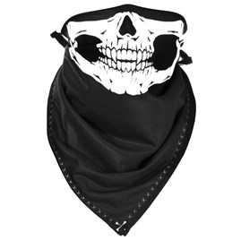 Capacete Aberto Pro Tork New Atomic Skull Riders Preto/Laranja Fosco