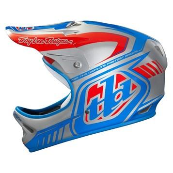 Capacete Bike Troy Lee D2 Delta Prata/Azul