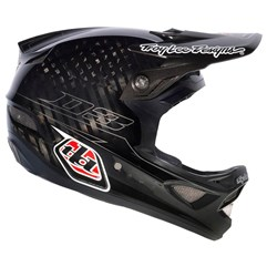 Capacete Bike Troy Lee D3 Pinstripe Carbon Preto