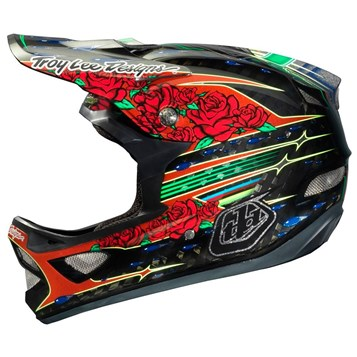 Capacete Bike Troy Lee D3 Sam Hill Carbon Preto