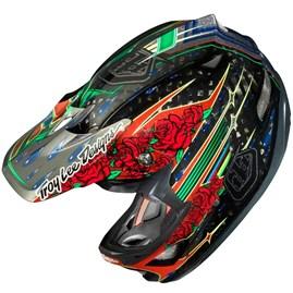 Capacete Bike Troy Lee D3 Sam Hill Carbon Preto
