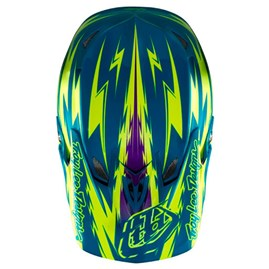 Capacete Bike Troy Lee D3 Thunder Compo Amarelo/Turquesa