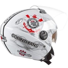 Capacete Corinthians Moto Pro Tork New Atomic Aberto