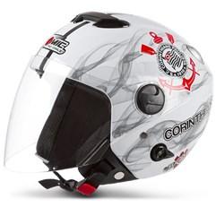 Capacete Corinthians Moto Pro Tork New Atomic Branco