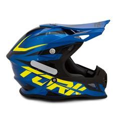Capacete Cross Pro Tork Fast 788 Azul - Amarelo