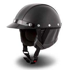 Capacete Custom Pro Tork Coquinho + Bandana Skull Riders Preto
