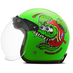 Capacete Custom Psycho Rat Fosco Etceter Verde