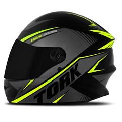 Capacete De Moto Pro Tork R8 Fechado Verde + Viseira Fumê TAM. 56