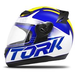 Capacete Fechado Pro Tork Evolution G7 Azul e Amarelo