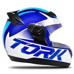 Capacete Fechado Pro Tork Evolution G7 Azul e Azul Claro