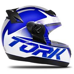 Capacete Fechado Pro Tork Evolution G7 Azul e Cinza