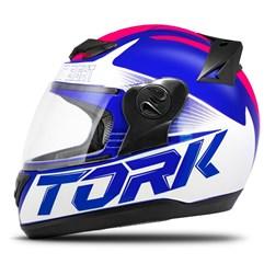 Capacete Fechado Pro Tork Evolution G7 Azul e Rosa