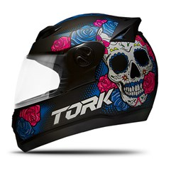 Capacete Fechado Pro Tork Evolution G7 Mexican Skull Brilhante