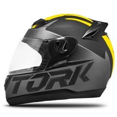 Capacete Fechado Pro Tork Evolution G7 Preto/Amarelo Fosco