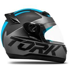 Capacete Fechado Pro Tork Evolution G7 Preto/Azul Fosco