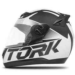 Capacete Fechado Pro Tork Evolution G7 Preto/Branco Fosco